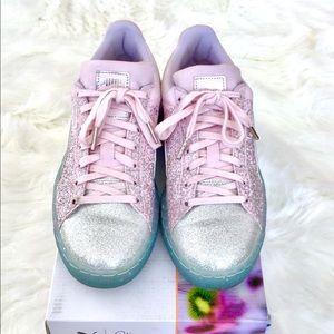 70bbee8d8f6 PUMA SOPHIA WEBSTER Suede Glitter Princess Sneaker NWT